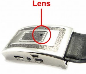 Belt buckle spy camera
