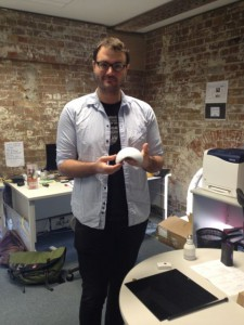 Dan Friedman with the Ninja Sphere