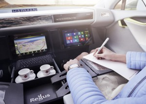 Swiss automobile company Rinspeed has unveiled a self-driving concept car that transforms into a mobile office so owners can make the most of their time on the road.