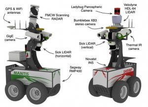 Mantis and Shrimp: General purpose perception research ground vehicles (Source: ACFR)