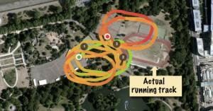 Example of GPS drift