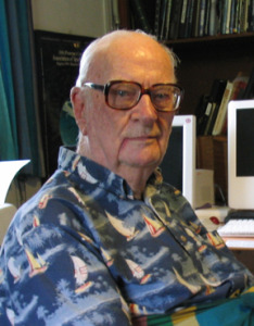 Sir Arthur C. Clarke at his home in Sri Lanka. A visionary who predicted artificial intelligence and communications satellites that orbit the earth in fixed positions. Image credit: Amy Marash By en:User:Mamyjomarash (en:Image:Clarke sm.jpg) [Public domain], via Wikimedia Commons