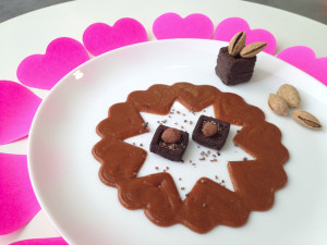 NM Valentines Day Chocolate Mousse and Caramel Sauce (Credit: Natural Machines)