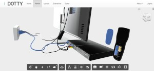 Dotty's 3D visualisation can be used by a customer support person to show someone how to hook up their DVR