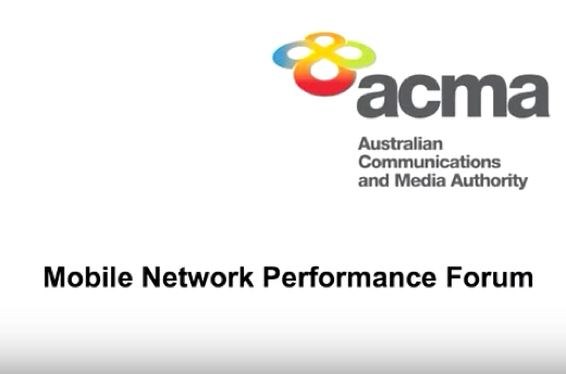 ACMA Mobile Network Performance Forum