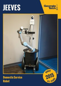 JEEVES Robot developed by Georgia Tech to be used as a domestic cleaner