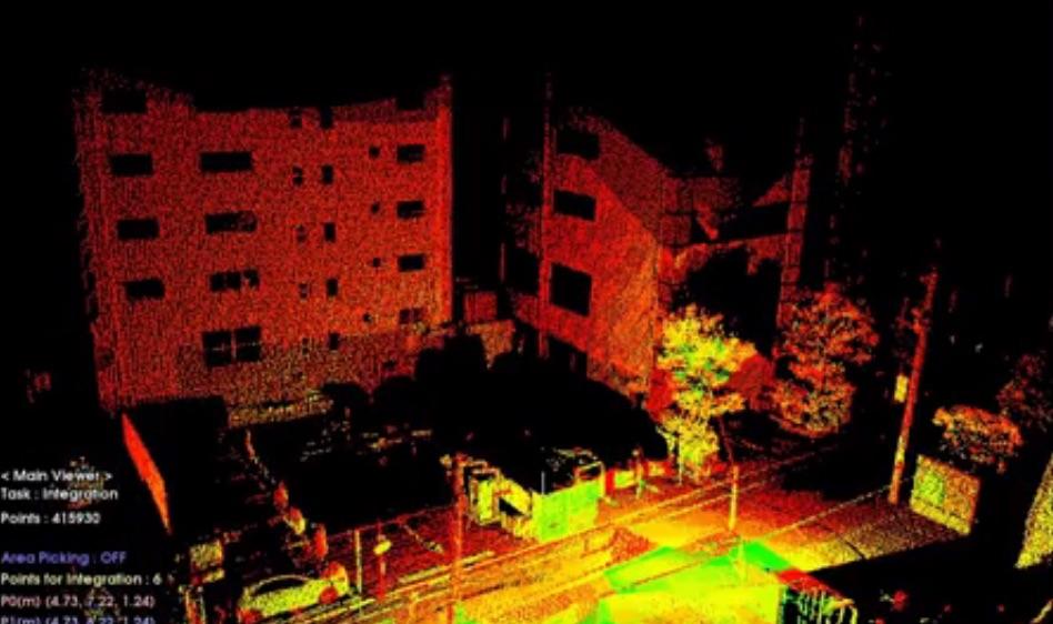 RobotEye 3D scan of the neighbourhood